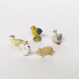 Miniature Vintage Painted Farm Animals
